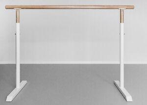 Ballettstange mobil 160cm höhenverstellbar 85-120cm Stahl Weiß sehr stabil