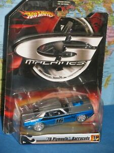 1/50 G MACHINES HOT WHEELS 1970 PLYMOUTH BARRACUDA '70 DIECAST *NEW OLD STOCK*