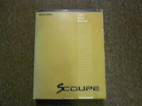 1991 HYUNDAI SCOUPE Service Repair Shop Manual Wiring Troubleshooting OEM