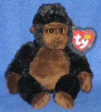 TY CONGO the GORILLA BEANIE BABY - (NEW VERSION) - MINT with MINT TAGS