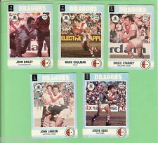 1977 SCANLENS RUGBY LEAGUE TEAM CARDS  -  ST GEORGE DRAGONS