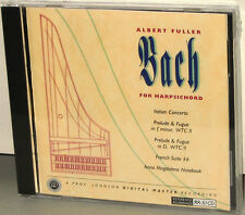 Reference Recordings CD RR-51: Bach for Harpsichord Albert Fuller OOP 1992 US SS