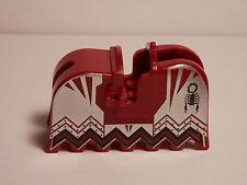 LEGO ONE NEW Horse Barding with Knights Kingdom Vladek Scorpion Pattern DARK RED