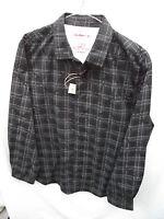 BNWT Mens Sz Large Rivers Brand Black/Pattern Long Sleeve Slim Fit Shirt RRP $40