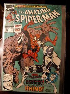 Marvel Comic The Amazing Spider-Man #344 Vfn+ 1990 Rhino VENOM Really DEAD? KEY
