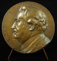 Medal Emile Willem Pdt Syndicate de La Prsse Municipal Georges Villain 1934