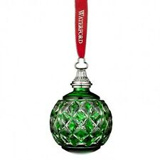 Waterford 2016 Annual Green Cased Ball Ornament # 40015787