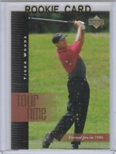 TIGER WOODS Tour Time 1996 PRO ROOKIE CARD Upper Deck 2001 Golf RC LE