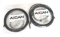 Aican Bike Shift Derailleur MTB Mountain cable housing set kit vs Jagwire, Black