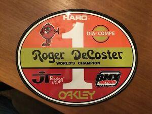 Old School OVAL BMX Number plate by OGK JAPAN -ROGER DeCOSTER BMX RACING