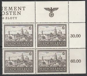 Stamp Germany Poland General Gov't Mi 115 Block WWII AH TR Castle MNH