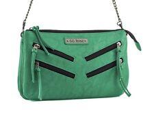 GG Rose by Rock Rebel Venice Cross Body Handbag with Zippers Green
