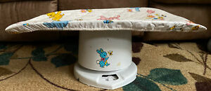 Vintage Counselor Baby Scale White Metal Bunny Rocking Horse Nursery