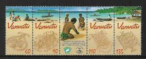 2001 Sand Drawings Strip of 5 MUH/MNH