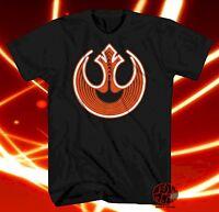 New Star Wars Rebel Alliance Logo Neon Mens Throwback Vintage T-Shirt