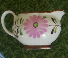 Gray's Pottery copper lustre luster Stoke on Trent England hand painted pitcher