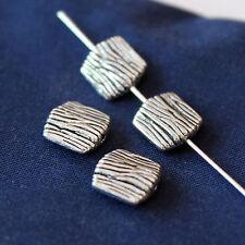 20 pz - Perline in argento tibetano - 9 x 8 mm