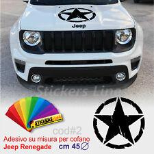 Adesivo Stella Militare per cofano Jeep Renegade effetto consumato us army cod#2