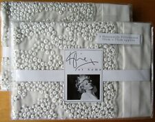 KYLIE AT HOME Housewife Pillowcase PAIR New DARCEY OYSTER