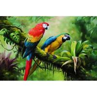 5D DIY Full Drill Diamond Painting 2 Magpies Cross Stitch Embroidery Mosaic