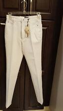 Cambio Women's Jeans  Straight Leg White Denim Sharon Size 4 NWT $195