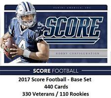 2017 SCORE FOOTBALL BASE SET - 330 VETERANS / 110 ROOKIES - 440 TOTAL CARDS