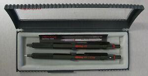 Rotring 600 Set Green Hexagonal Knurled Grip Ballpoint Pen & Pencil New In Box