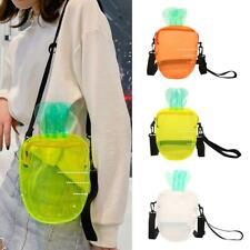 Girl Carrot Clear Transparent PVC Shoulder Bag Women Crossbody Messenger Handbag