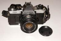 Fujica AX-1 35mm SLR Film Camera X-Fujinon 50 mm 1.9 Lens