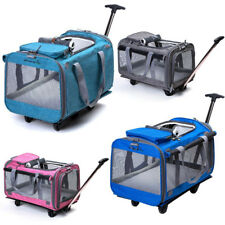 Linen Material Medium Dog Pet Carrier Trolley Super Breathable Foldable