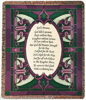 """THROWS - GOD'S PROMISE TAPESTRY THROW - 50"""" X 60"""" THROW BLANKET"""