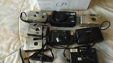 8 Vintage Film  Cameras for Parts Samsung Canon Solaris Vivitar Disc  CP2