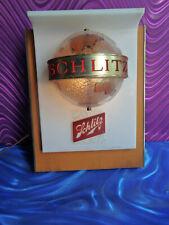 Vintage Schlitz Beer Globe Animated Motion Light Up World Globe Sign