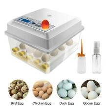 16 Eggs Incubator Poultry Mini Digital Hatcher Auto Turner Duck Bird Hatching