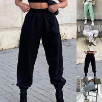 Largo Donna Pantaloni Abbigliamento Comodo Oversize Della Tuta SPORTS