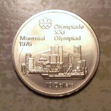 Canada - 10 Dollar 1973 XXI. Olympiade Kanada Montreal 1976 Skyline Silber