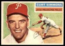 1956 Topps EX-Mt Curt Simmons Philadelphia Phillies #290
