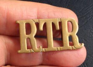 Vintage Royal Tank Regiment (RTR)  Shoulder Title Badge