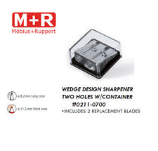 Mobius and Ruppert (M+R) 0211-0700 MAGNESIUM two hole, block w/ 2 blades
