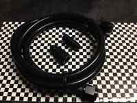 """- 4 Black Steel Braided Pressure Gauge Line Kit Oil Water Fuel Gauges 36"""" Inch"""