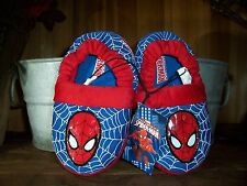 SPIDER MAN TODDLER BOYS SLIPPERS SIZE SMALL 5-6 KIDS SUPER HERO HOUSE SHOES NEW