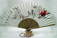Korean Paper Fan, Traditional Bamboo Hand Fan, Art Decorative Fan, Antique Fan