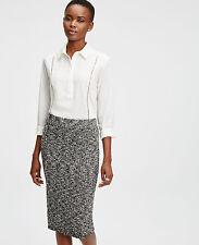 $$75 NWT Ann Taylor Cutout Mixed Media Shirt Blouse S