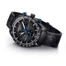 Tissot PRS 516 Chronograph T100.417.37.201.00 Black Carbon Dial Men's Watch New