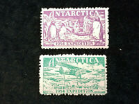 Antarctica Antarktis - 1954 Expedition -  2  Marken / Vignetten   Nr.1
