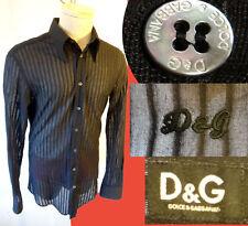 Dolce & GABBANA sheer mesh D&G 52 42 large see thru through xray stripe stripper
