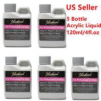 LOT 5PCS 120ml /4fl.oz Acrylic Liquid Monomer Professional Acrylic Nail System