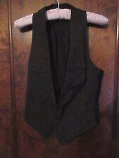 Antique Vintage 1880s-1900 Victorian Men's Black Vest Waistcoat