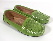 Dije California Stardust Moc Suede Moccasins Flats Green Size 6 m NEW