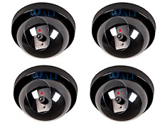 4 Pack Fake Dome Security Camera Decoy CCTV with Flashing Red LED Light Dummy .